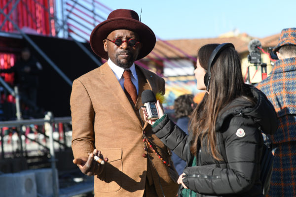 Delphine Souquet interviews Thierry Mouele at Pitti Uomo