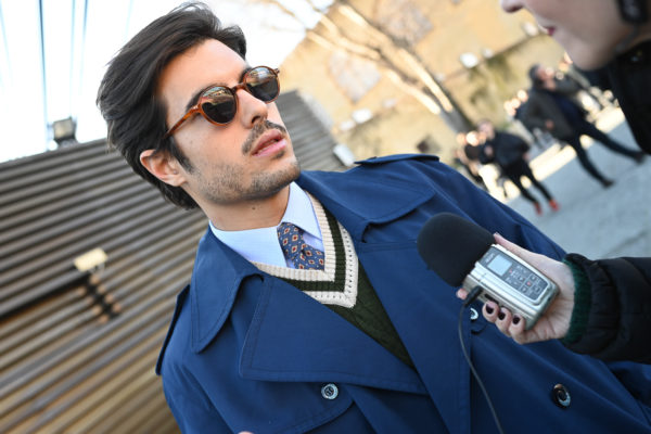 Raul Vidal interviewed for 2Goodmedia's Podcast during Pitti Uomo