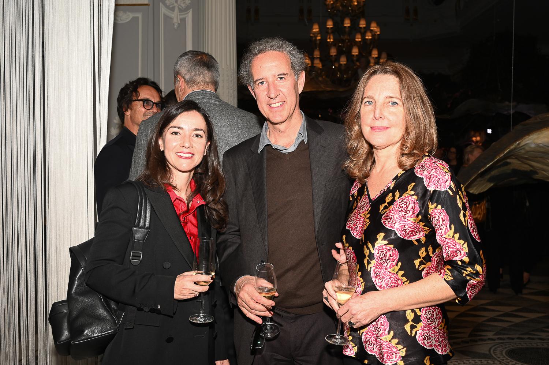 Delphine SOUQUET, Bartolomeo Pietromarchi Director of MAXXI Arte, and his wife