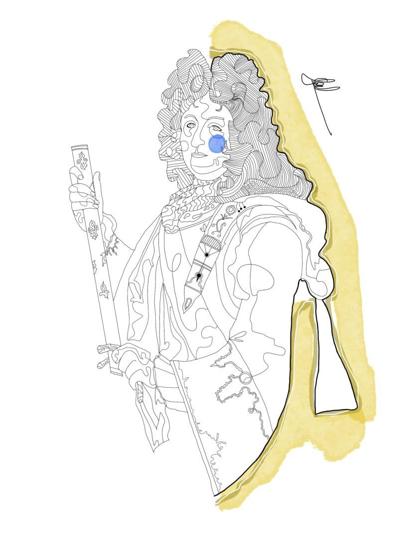 2Goodmedia : Louis XiV illustrated by Gabriele Melodia