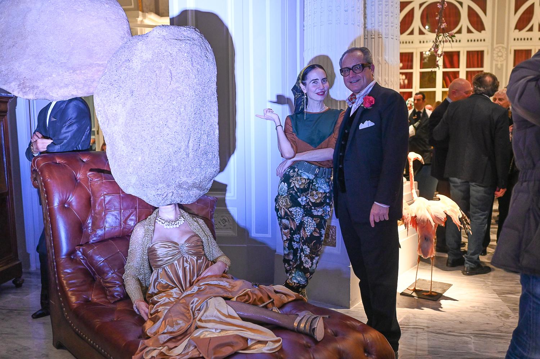 La Galleria Continua ouvre a Rome : Saverio Ferragina, Camilla Alibrandi in front of Teenager Teenager 2011