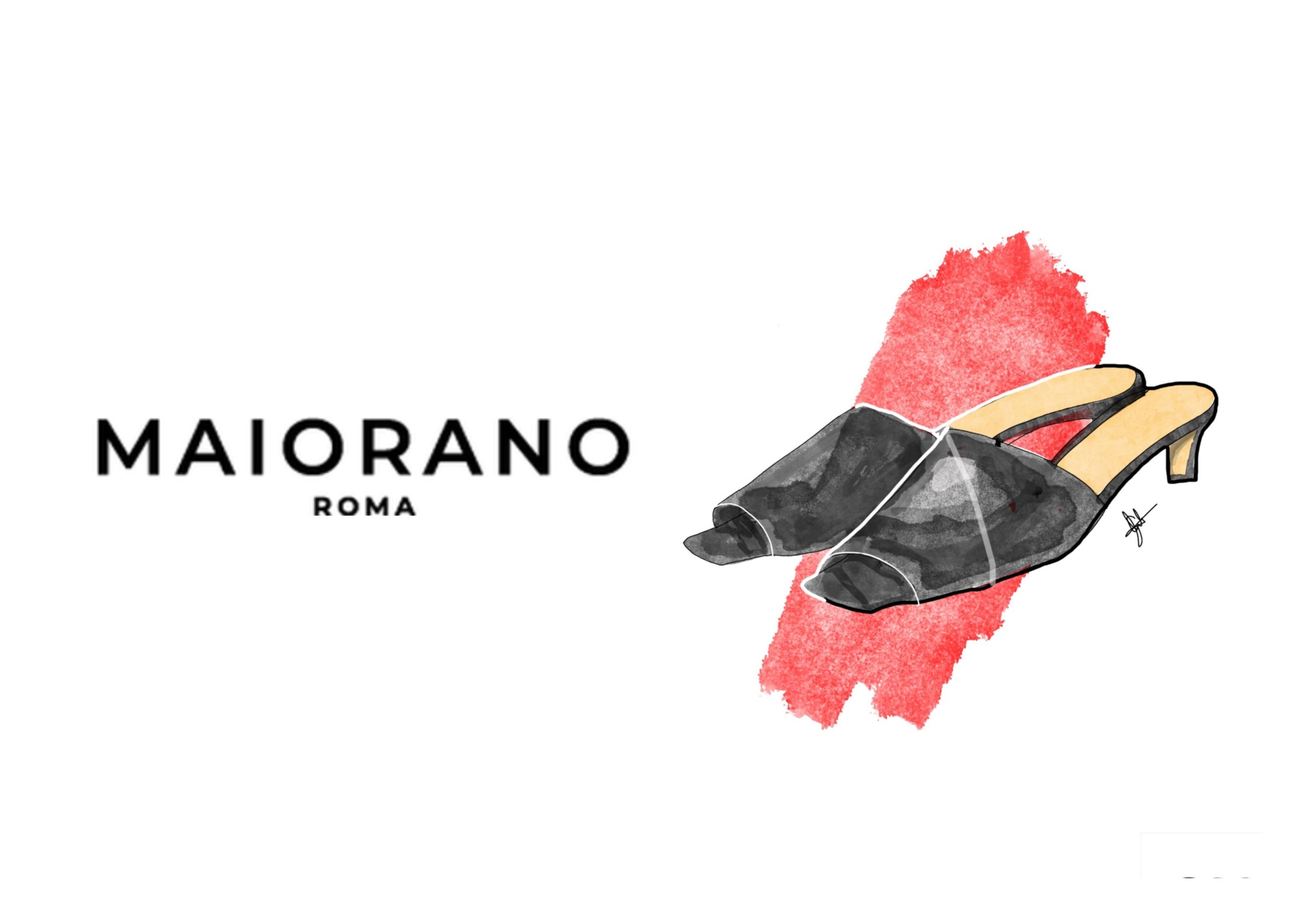 MAIORANO Luxury Shoes Fashion Illustration by Gabriele Melodia