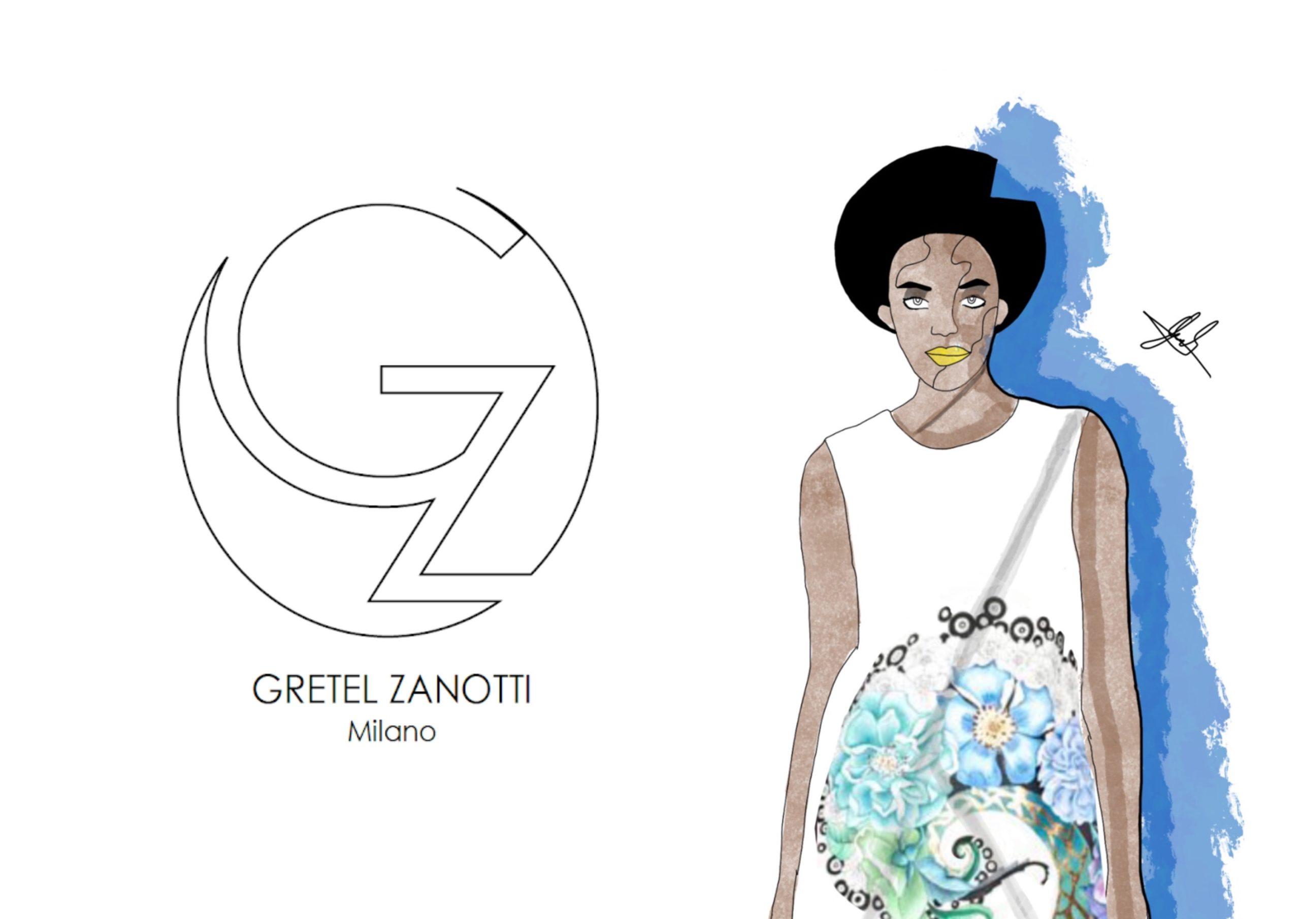 Fashion Illustration of a Black Model by Gabriele Melodia of Gretel Zanotti creative entrepreneur