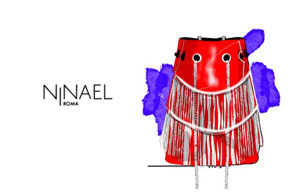 Illustrations by Gabriele Melodia of Ninael Roma Handbags