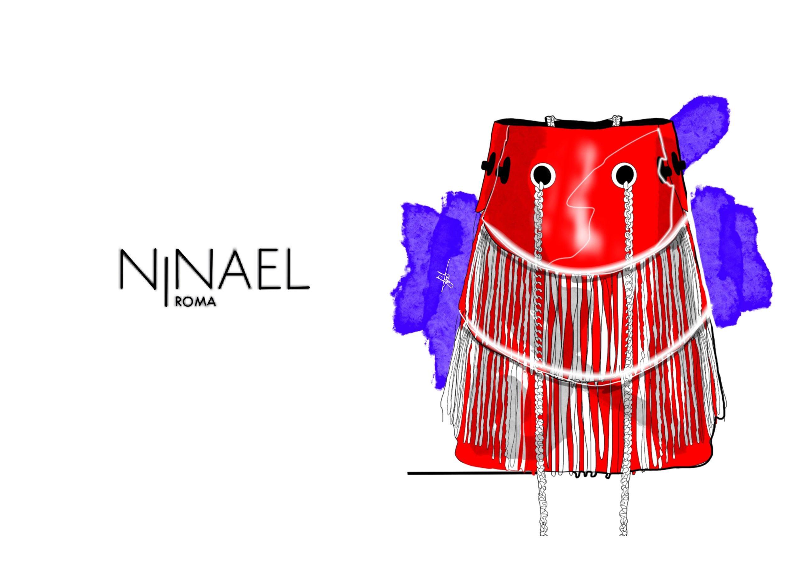 Illustrations by Gabriele Melodia of Ninael Roma Handbags