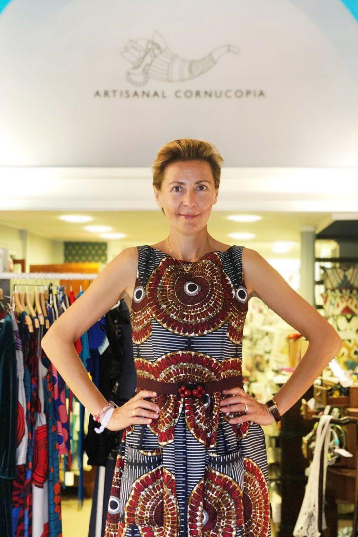 Portray of Elif Sallorenzo in the concept store of Artisanal Cornucopia in Rome