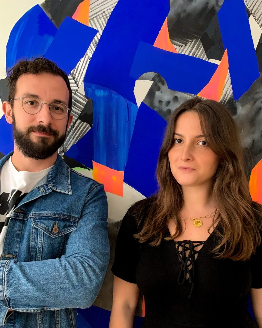 Michael Le Goff and Camille Cohen founders of Cohle gallery in urban and contemporary art
