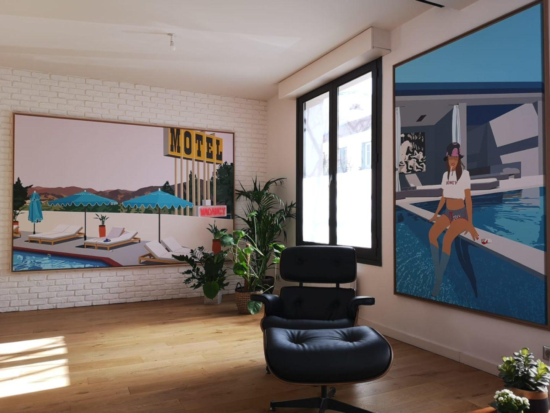 Atelier de FENX Graffeur et artiste a La Defense
