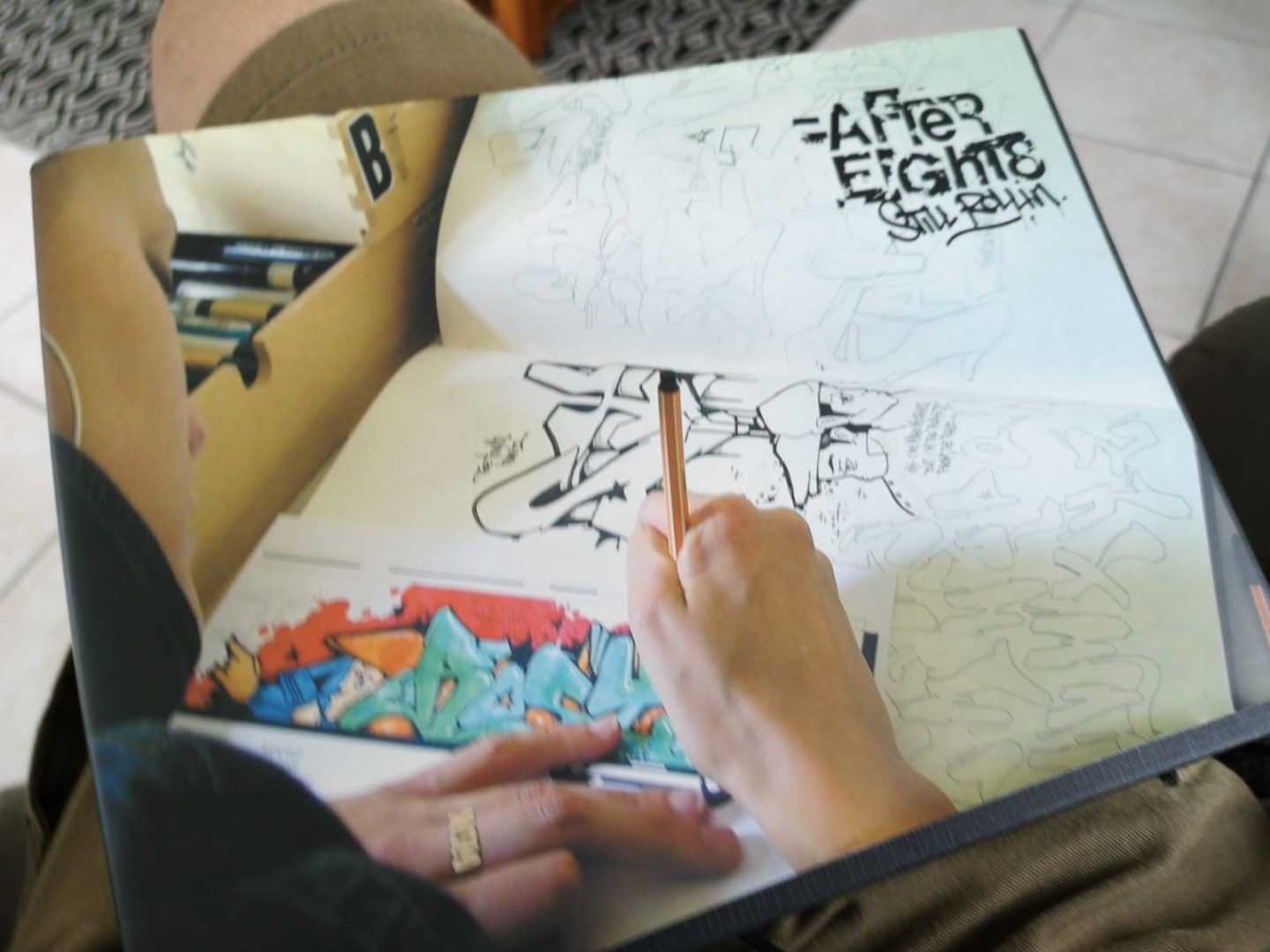 After_Eight_8 book cover with graffiti art