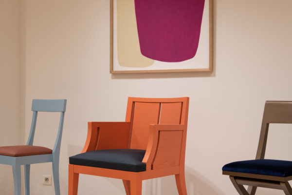 Chaises Upcycling Luxe multicolores Crearity x Philippe Hurel